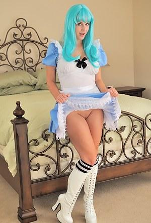 Danielle plays dress up
